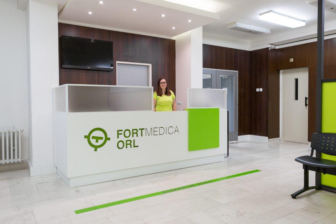 FortMedica ORL Modřany recepce čekárna