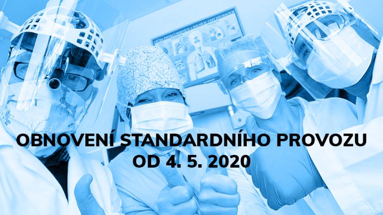 Obnovení standardního provozu po koronavirové epidemii