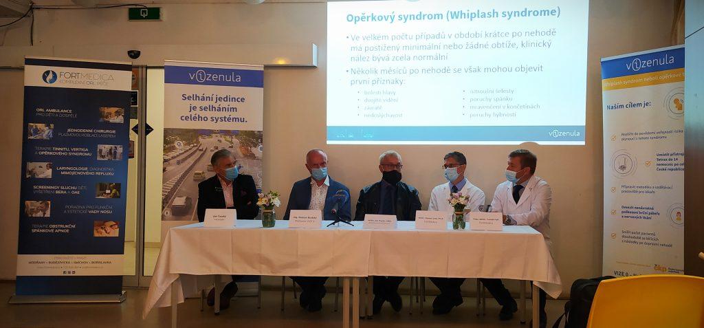 Tisková konference na téma opěrkového syndromu a přístroje tetrax